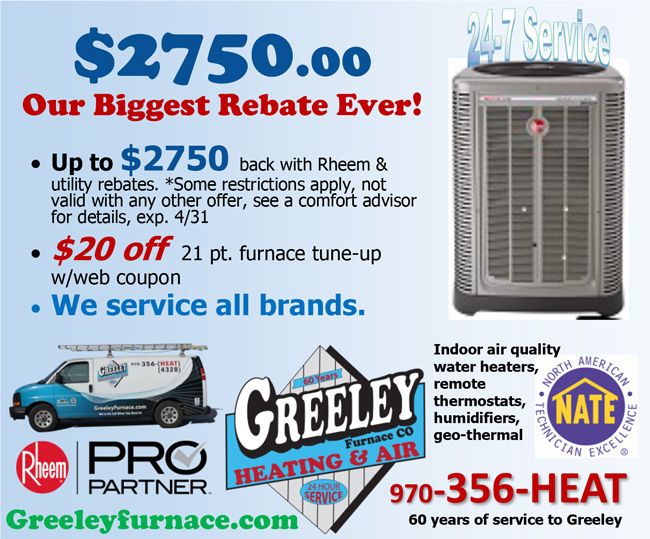 Specials Greeley Furnace Heating And Air